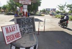 PREÇO DE COMBUSTÍVEL OUTRO DE INDONÉSIA AUMENTO Imagem de Stock Royalty Free