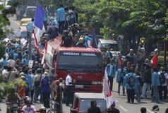 PREÇO DE COMBUSTÍVEL OUTRO DE INDONÉSIA AUMENTO Imagem de Stock
