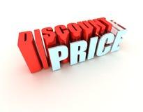 Preço de disconto ilustração stock
