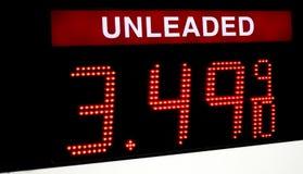 Preço de gás compacto Foto de Stock Royalty Free
