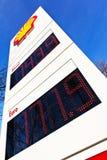 Preço de gás do posto de gasolina Imagens de Stock Royalty Free