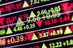 Preço de mercado conservado em estoque financeiro Foto de Stock