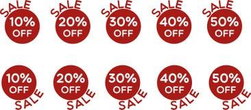 Preço de venda fora do vetor do grupo dos ícones ilustração stock