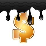 Preço do petróleo Fotografia de Stock Royalty Free