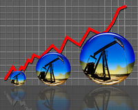 Preço do petróleo altos. Imagens de Stock Royalty Free