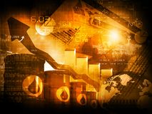 Preço do petróleo crescente fotos de stock royalty free