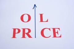 Preço do petróleo de aumentação. foto de stock royalty free