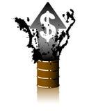 Preço do petróleo de aumentação Imagens de Stock Royalty Free