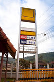Preço do posto de gasolina foto de stock royalty free
