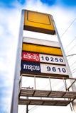 Preço do posto de gasolina imagens de stock