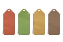 Preço em branco de papel recicl Fotografia de Stock