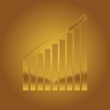 Preço em subida do trigo ilustração stock
