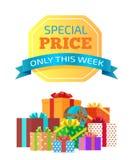 Preço especial somente esta ilustração do vetor da semana Fotos de Stock