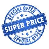 Preço super Foto de Stock Royalty Free