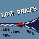 Preços baixos Imagem de Stock Royalty Free