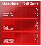 Preços da gasolina fotos de stock