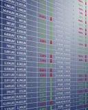 Preços das acções Fotografia de Stock
