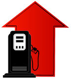 Preços de aumentação do combustível ou de gás ilustração do vetor