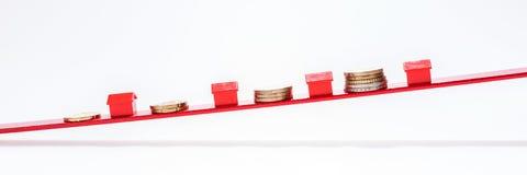 Preços de aumentação dos bens imobiliários Foto de Stock
