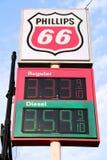 Preços de combustível Imagem de Stock