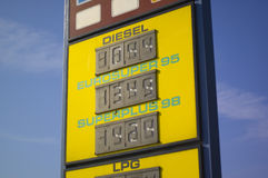 Preços de combustível Imagem de Stock Royalty Free