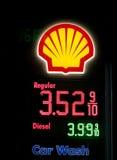 Preços de combustível em Utá Imagem de Stock