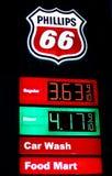 Preços de combustível em Utá - maio 2012 Foto de Stock