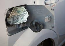 Preços de gás de aumentação Fotografia de Stock Royalty Free