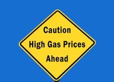 Preços de gás elevados Imagem de Stock Royalty Free