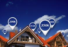 Preços de mercado imobiliário imagens de stock