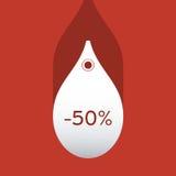 Preços de queda ilustração stock