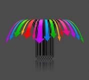 Preços de queda um código de barras creativo do colorfull Imagens de Stock