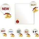 Preços do ícone da Web do Natal Imagem de Stock Royalty Free