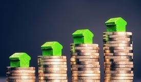 Preços em subida para bens imobiliários fotos de stock