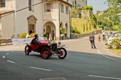 Pre война racecar на Бергаме историческом Grand Prix 2017 Стоковые Изображения RF