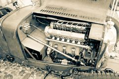 Pre двигатель войны racecar на Бергаме историческом Grand Prix 2017 Стоковая Фотография