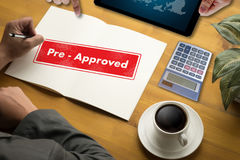 Pre-Approved Choice Mark Selection CUSTOMIZE Status Option and C Stock Images