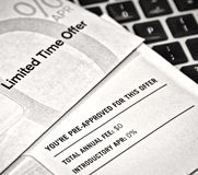 Pre-Approved Junk Mail Credit Card Offers Royalty Free Stock Photos