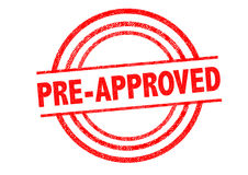 PRE-APPROVED Rubber Stamp Royalty Free Stock Photos