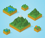 Pre assembly isometric map-mountain Royalty Free Stock Image
