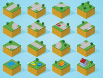 Pre assembly isometric map-road. Create an epic isometric world with unlimited construction by using this set of this isometric map pieces . Available in Royalty Free Stock Images