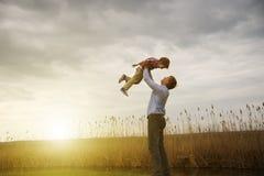 Père avec le fils Image libre de droits