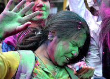 Pre celebração de Holi em Bhopal Fotografia de Stock Royalty Free