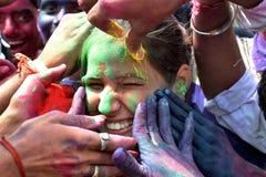 Pre celebrazione di Holi a Bhopal Fotografie Stock Libere da Diritti