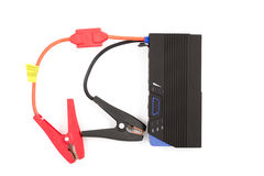 Pre-chargers for car batteries . Quick start the car . Charging on a white background . stock images