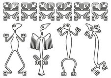 Pre-colombian designs Royalty Free Stock Photography