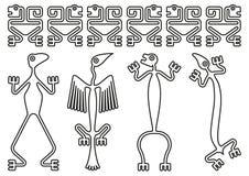 Pre-Columbiaanse ontwerpen vector illustratie