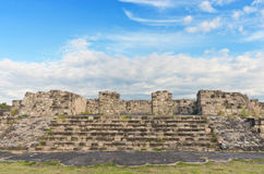 Pre-Columbian archaeological site of Xochicalco in Mexico Stock Photos