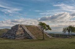 Pre-Columbian archaeological site of Xochicalco in Mexico. UNESCO World Heritage Site royalty free stock photo