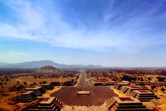 Pre-Columbian City of Teotihuacan Royalty Free Stock Photos